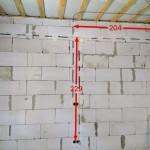 Пример маркировки линий оставляемые клиенту после работ.
